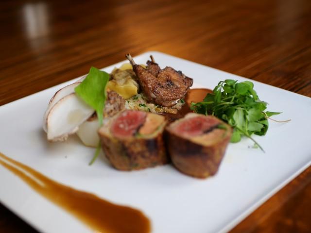 Chez Scott Pigeonneau, foie gras & Truffe, Raviole