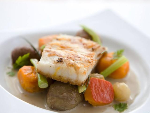 Chez Scott Restaurant Chez Scott Biarritz, poisson sauvage à la plancha